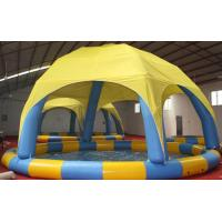 Wholesale Colorful Bumper Boats Inflatable Water Pool 10m Dia / Inflatable Swimming Pool With Cover from china suppliers