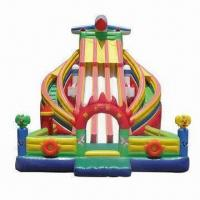 Wholesale 18oz Inflatable Slide, Made of 0.55mm PVC Tarpaulin, Customized Designs are Accepted from china suppliers