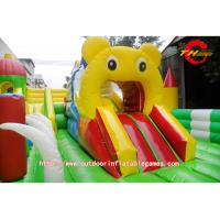 Childrens PVC Inflatable Bounce House With Slide For Disney Theme Park