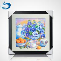 Wholesale 5D Natural Flowers 40 x 40cm Poster Custom Lenticular Printing For Home Hanging from china suppliers