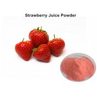 Wholesale Organic Instant Strawberry Fruit Juice Powder Pink For Foods And Beverage / Cosmetics from china suppliers