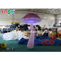 Wholesale Nylon Cloth 2m Hanging Blow Up Mushroom With LED Light For Event / Wedding from china suppliers