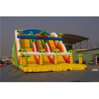 China Dinosaur Kids Blow Up Water Slide Obstacle Course , Huge Blow Up Water Slide For Pool on sale
