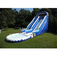 Wholesale Double Lane Inflatable Water Slide , Durable Material Inflatable Water Slide For Playing from china suppliers