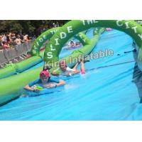China 100×3m Giant PVC Tarpaulin Inflatable Slip Slide The City For Adult Inflatable Water Slide on sale