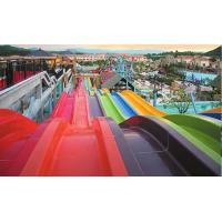 Wholesale Amusement Park Big Water Slides Custom Size With Water Pump Accessories from china suppliers
