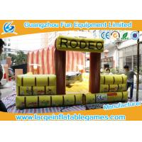 China Rodeo Bull Riding Machine Ball Excited Inflatable Sport Games 5*5m Customized on sale