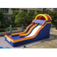 Wholesale 0.55mm PVC Tarpaulin Colorful Large Inflatable Dry Slide For Kids / Blow Up Water Slide from china suppliers