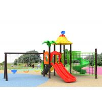 Buy cheap Small Outside Childrens Plastic Playground 10 Kids Capacity With Slide from wholesalers