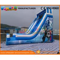 Wholesale Blue PVC Tarpaulin Frozen Commercial Inflatable Slide Inflatable Dry Slide for Kids from china suppliers
