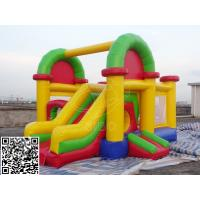 China Colorful PVC Tarpaulin Inflatable Bounce House With Slide Kids Bouncer Castle on sale