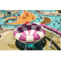 China Huge Space Backyard Water Slides , Pink Cool Water Slides 18m on sale