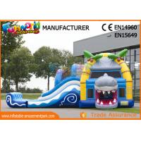 Wholesale Multiplay Shark Inflatable Bounce Houses / 12 Person Blow Up Water Slide from china suppliers