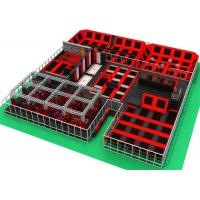 China Childrens Bounce Trampoline Park With Ninja Warrior Course And Climbing Wall on sale