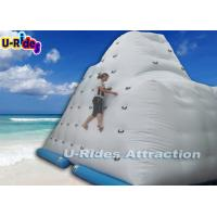 China 4.2 M Height Inflatable Rock Climbing Wall Rentals / Large Kids Inflatable Water Toys on sale