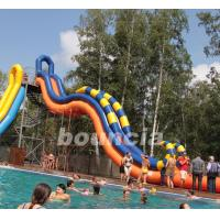 Quality Giant Inflatable Water Slide With Durable 0.9 mm PVC Tarpaulin for sale