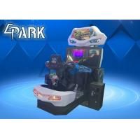 Quality Crazy and Funny Arcade Car Racing Games Machine with Flashing Light for sale