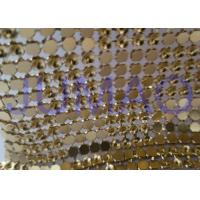 Quality Interlaced Metal Sequin Fabric Curtain , 120 Cm * 45 Cm Metallic Mesh Fabric for sale