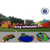 Wholesale 9*8m Colorful Shark Inflatable Water Slide With Pool Commercial Water Park For Kids from china suppliers