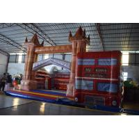 Wholesale PVC Red Wide Inflatable Bus House Jumping Castle For Kids Entertainment Eco - Friendly from china suppliers