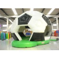 China Football Design Bounce Round Bounce House , Soft Inside Bounce House Fire Resistance on sale