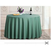 Wholesale Modern Home Round Waffle Style Green Polyester Tablecloth With ZEBO Logo from china suppliers
