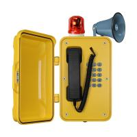 Wholesale IP67 Heavy Duty Industrial Broadcast Telephone With Beacon And Flashing Lamp from china suppliers