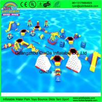 Quality Giant inflatable water park/Summer games for adult/used water park slides for for sale