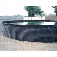 China 30000 L PVC Tarpaulin Fish Tank Strong Stainless Steel Wire Fish Pond For Fish Farming on sale
