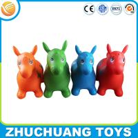 Wholesale kids ride on pvc inflatable farm animal horse toys from china suppliers