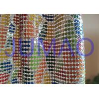 Wholesale Colorful Drapes Metal Sequin Fabric Anodized Aluminum For Bag / Cloth / Table from china suppliers