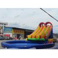 Quality Quadruple Lanes Commercial Inflatable Water Slides For Kids And Adults for sale
