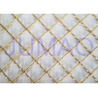 Wholesale Brass Plated Decorative Wire Mesh Cabinet Inserts For Entertainment Centers from china suppliers