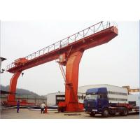 China L Type Single Beam Gantry Crane / Single Girder Gantry Crane With Hook Low Noise on sale