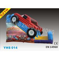 Wholesale 3 layer 0.55mm PVC Tarpaulin Adults Car Commercial Inflatable Slides YHS 014 from china suppliers