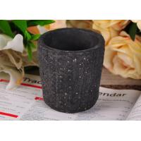 Quality Spraying ceramic votive candle holders / Hand Made black candle holders for sale