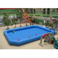 China 0.9mm PVC Outside Blue Rectangular Inflatable Swimming Pool For Adults on sale