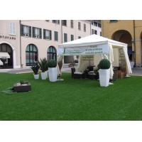 Wholesale 3 / 8'' Flat Yarn Shape Backyard Outdoor Artificial Turf / Fake Grass Landscaping from china suppliers