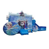 Wholesale Children Commercial Bouncy Castles hinchables castillos Inflatable Princess Frozen Carriage Bounce N Slide from china suppliers