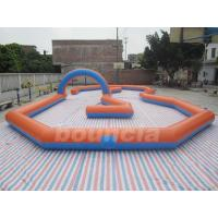 Wholesale Customized Inflatable Zorb Ball Field , Zorbing Ball Track With PVC Tarpauline from china suppliers
