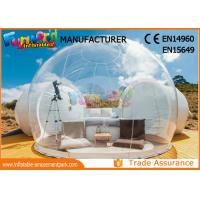 Wholesale Outdoor Camping Bubble Inflatable Party Tent / Clear Dome Igloo Tent from china suppliers