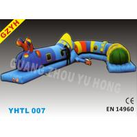 Wholesale Cartoon Inflatable Sports Tunnel YHTL-007 with Reinforced Strips for Kids and Adults from china suppliers