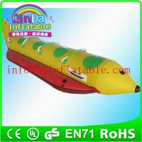 Wholesale Funny inflatable water games flyfish banana boat for sale pvc water park from china suppliers