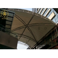 China Prefab Building Steel PVDF Membrane Shed Roof Trusses For Plaza on sale