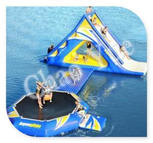 China 0.6mm PVC Kids Inflatable Water Slide Park Games Customed Waterproof on sale