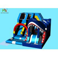 Wholesale Blue Sharp Model Inflatable Slide Bouncer With  Logo Printing 6*5*3.7 M from china suppliers