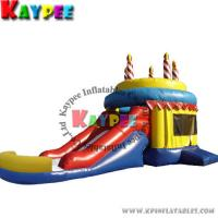 Wholesale KCB018 Birthday Cake Combo13'W x 25'L x 14'H ,inflatable bouncer with slide, from china suppliers