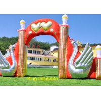 Wholesale 420D Nylon Fabric Swan Inflatable Arches With Air Blower from china suppliers