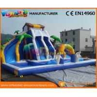 Wholesale 0.55 MM PVC Tarpaulin Mega Inflatable Slides With Pool For Water Park Party from china suppliers