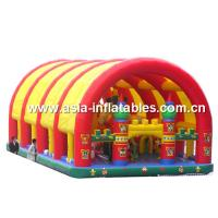 Wholesale Inflatable Funcity With Giant Dome Cover And Cartoon Animal Models Inside from china suppliers